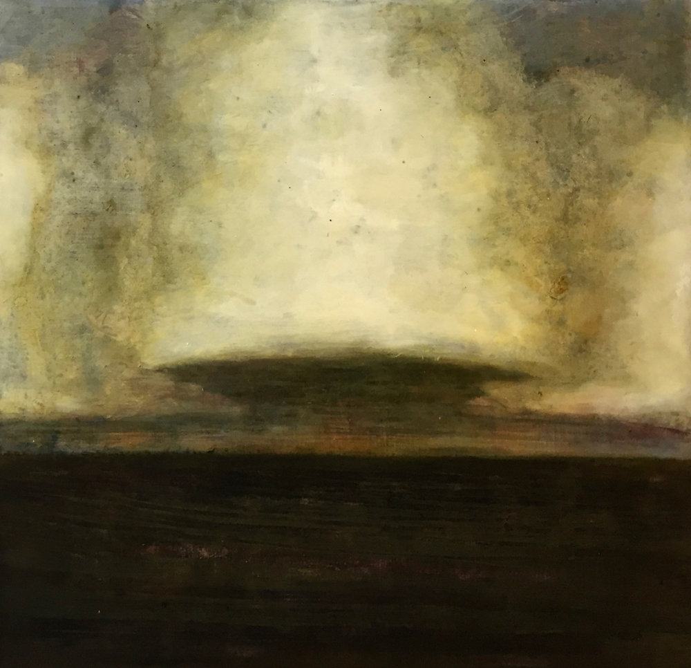 David Konigsberg,  Approaching Storm at Dusk , 2018, oil on panel, 23.5 x 24 inches (unframed), 25.75 x 25 inches (framed), $3800. (framed) (sold)