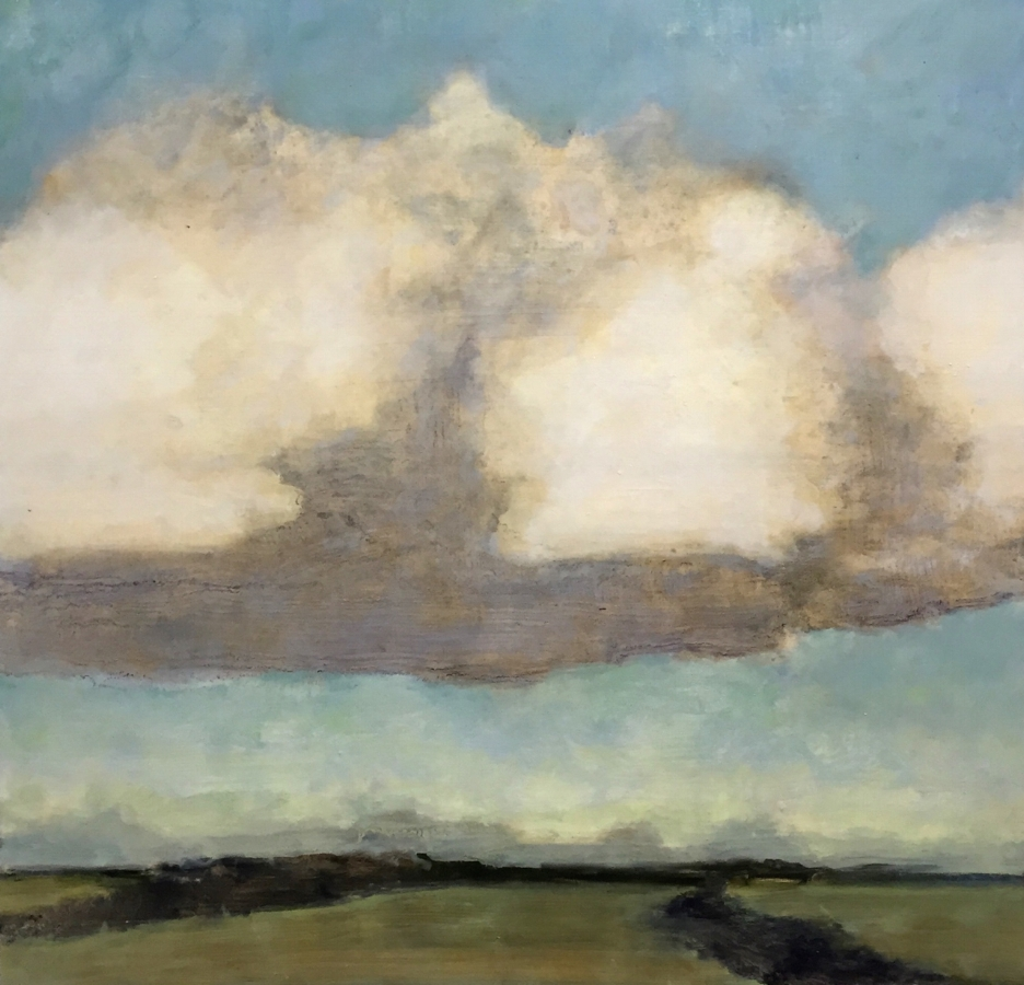 David Konigsberg,  Lone Cumulus , 2018, oil on panel, 23.5 x 24.25 inches (unframed), 25 x 25.75 inches (framed), $3800. (framed)