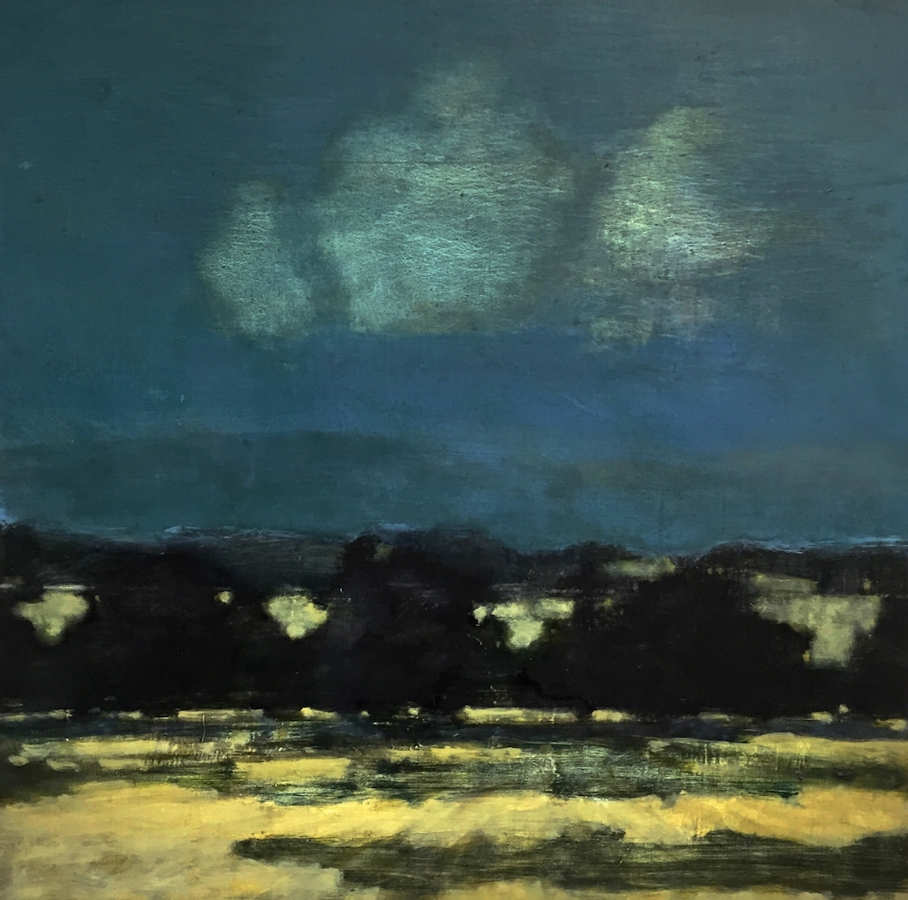 David Konigsberg,  Night  Orchard, 2018, oil on panel, 36 x 36 inches (unframed), 37.5 x 37.5 inches (framed), $5800. (framed) (sold)