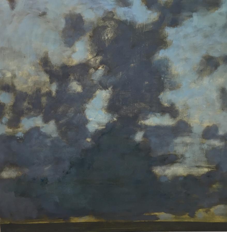 Dusk , 2018, oil on panel, 35.75 x 36 inches (unframed), 37.5 x 37.5 inches (framed), $5800. (framed)