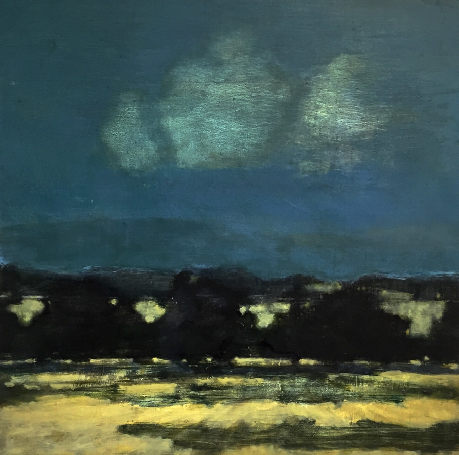 Night Orchard , 2018, oil on panel, 36 x 36 inches (unframed), 37.5 x 37.5 inches (framed), $5800. (framed)