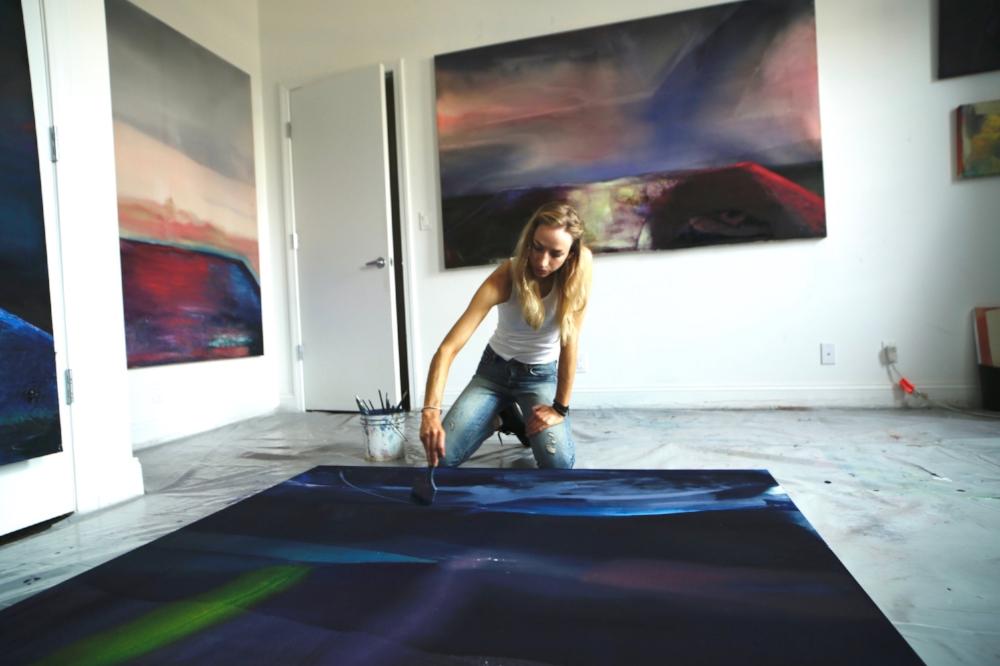 Dana James in her studio