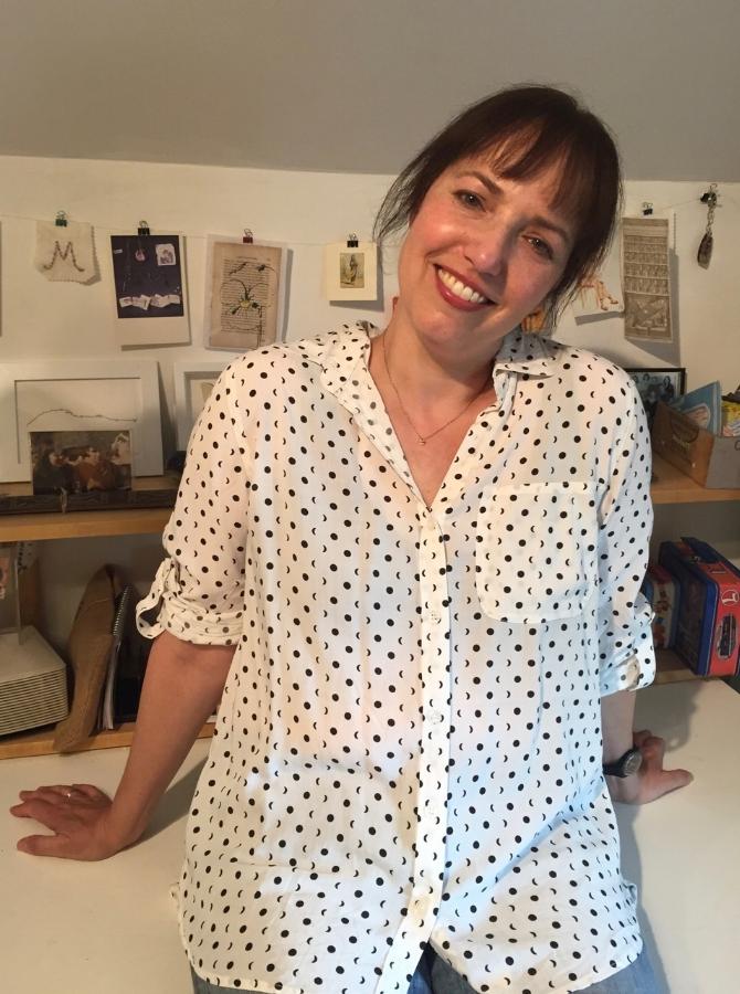 Margot Glass in her studio
