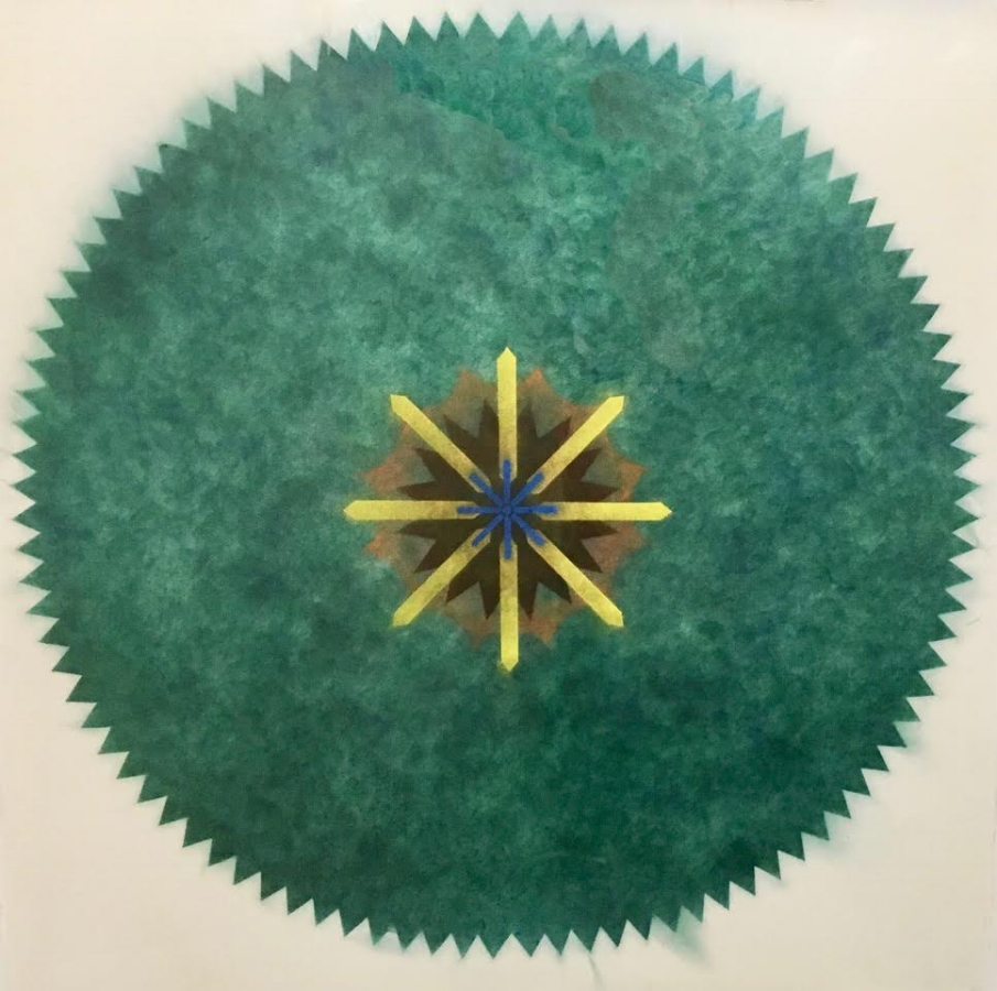 Pop Flower 51A-B , 2017, powdered pigment on paper, 30 x 30 inches (unframed), $3900. (unframed)