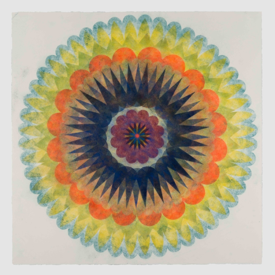 Pop Flower 69 , 2018, powdered pigment on paper, 30 x 30 inches (unframed), $3500.(unframed)