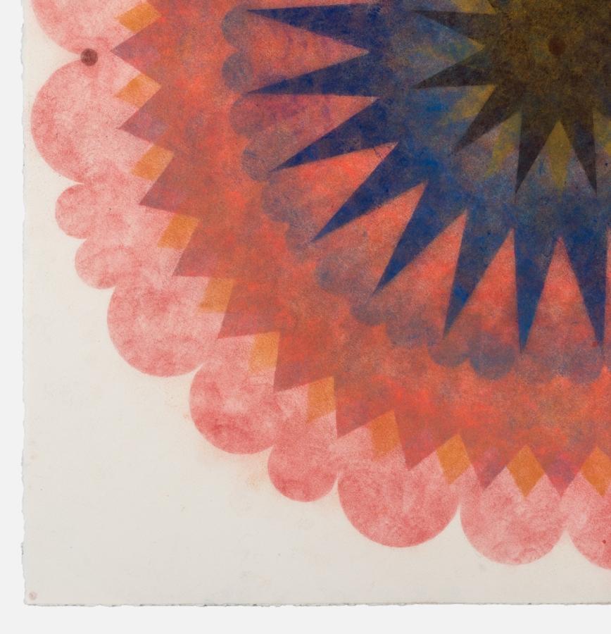 Pop Flower 70  (detail), 2018, powdered pigment on paper, 30 x 30 inches (unframed), $3900. (unframed)