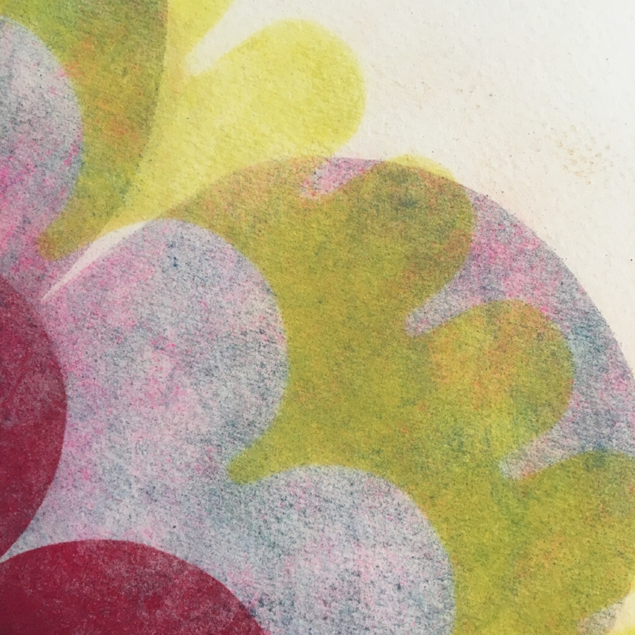Pop Flower 71  (detail), 2018, powdered pigment on paper, 30 x 30 inches (unframed), $3500. (unframed)