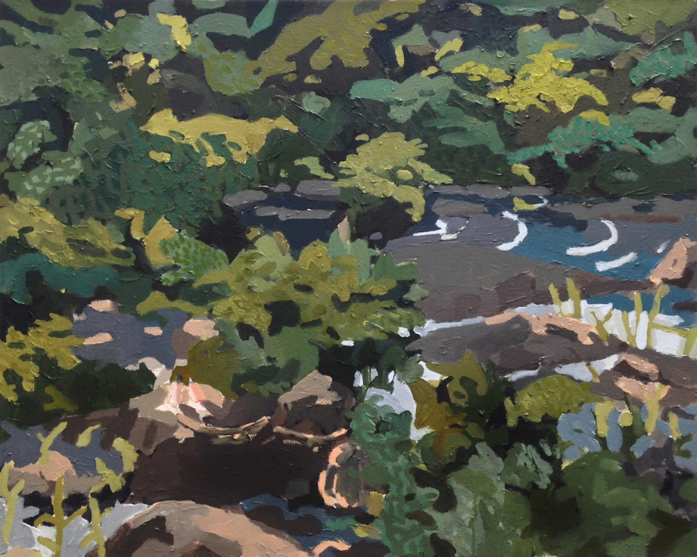 Belle Isle Landscape , 2017, oil on canvas, 24 x 30 inches, $1500.