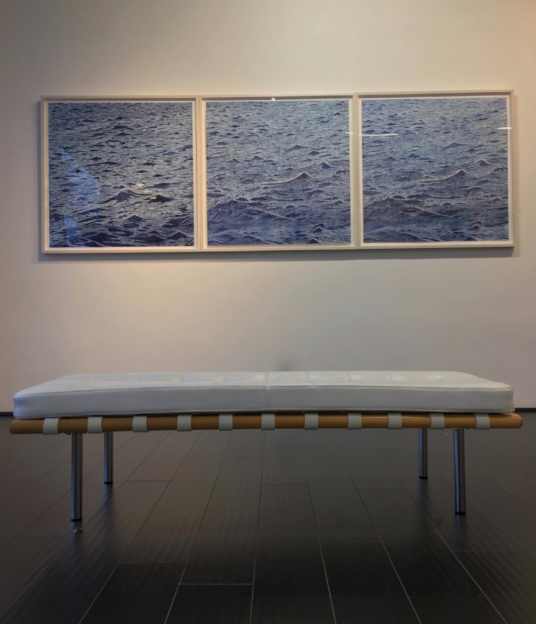 Installation view,  Seascapes  (suite)
