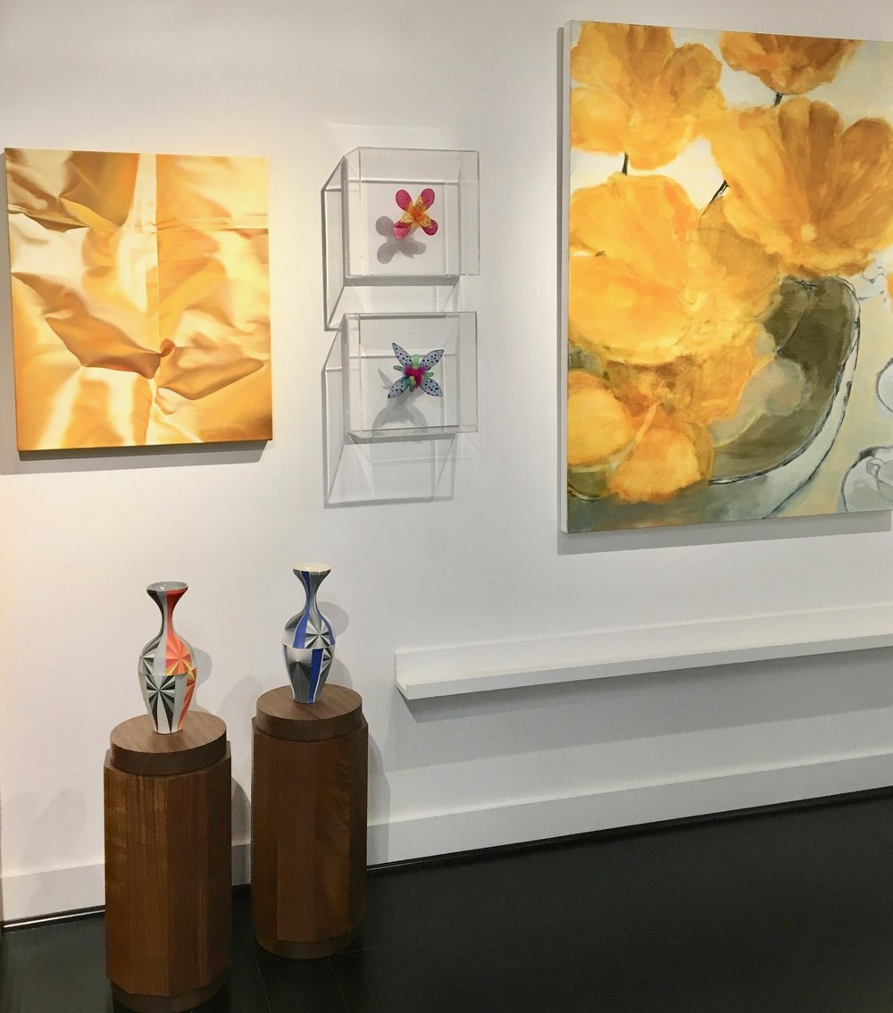 Installation view with  Yellow Series #5