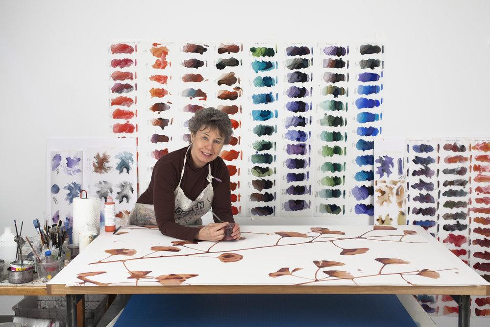 Jackie Battenfield in her studio