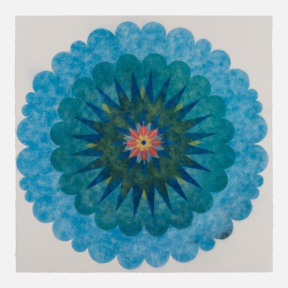 Pop Flower 74 , 2018, powdered pigment on paper, 30 x 30 inches (unframed), $3900. (unframed)