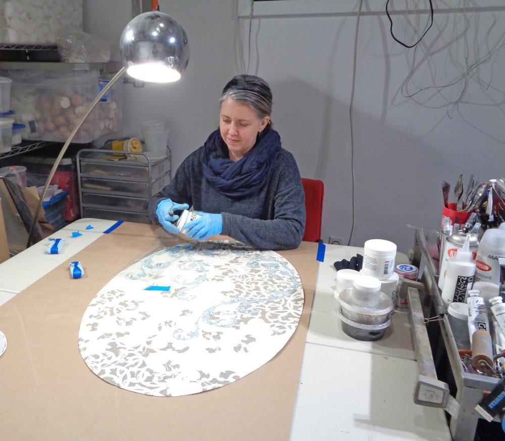 Eleanor White in her studio