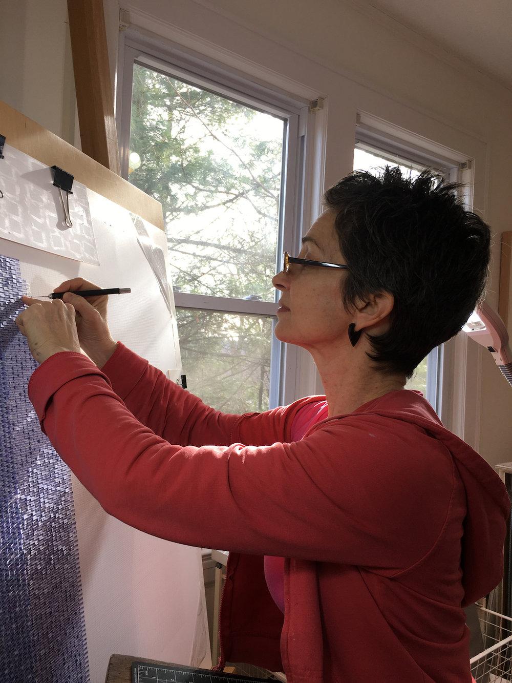 Meg Hitchcock in her studio