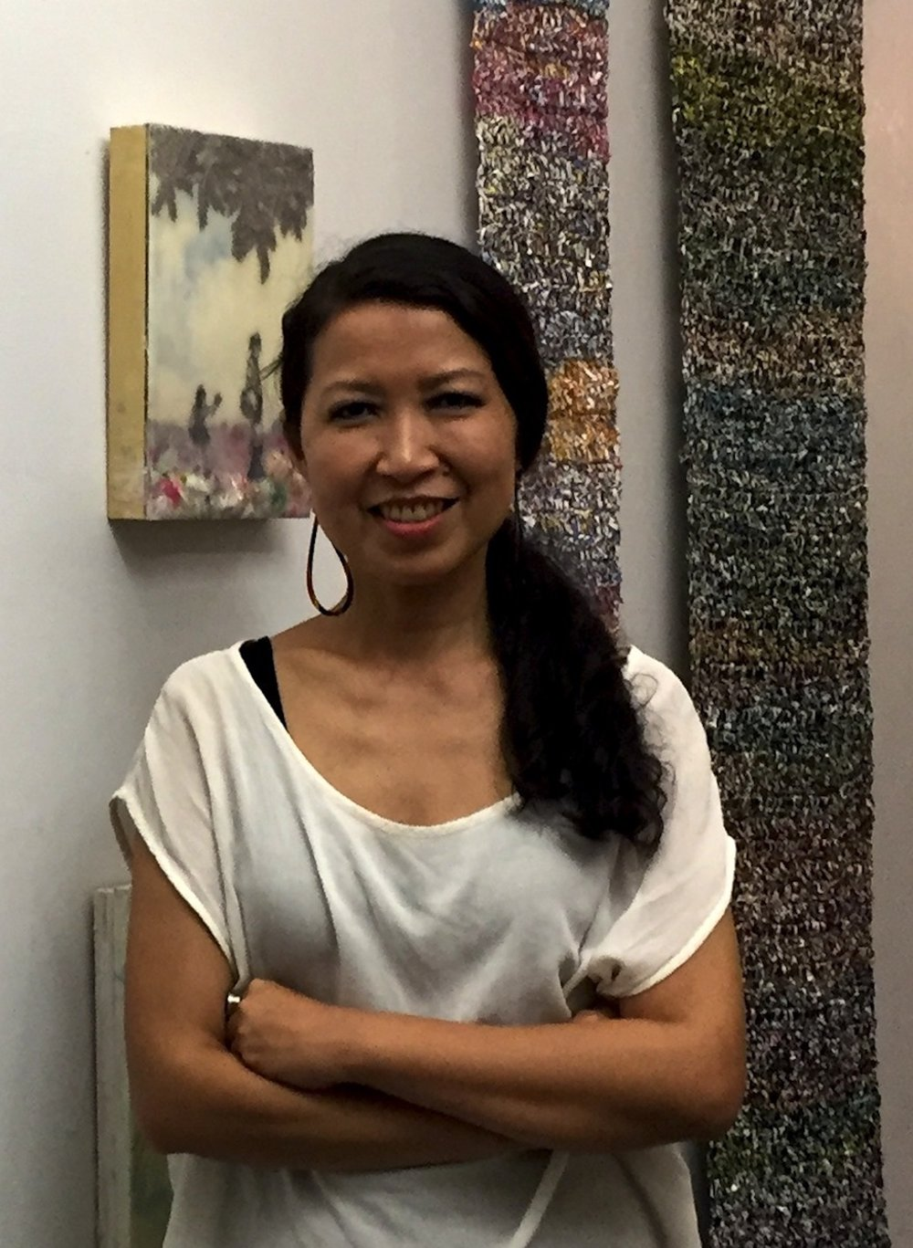 Cecile Chong in her studio. Photo Credit: Anjuli Rathod