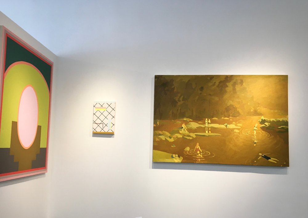 Installation view alongside Katie Barrie in Cool & Collected '18 exhibition