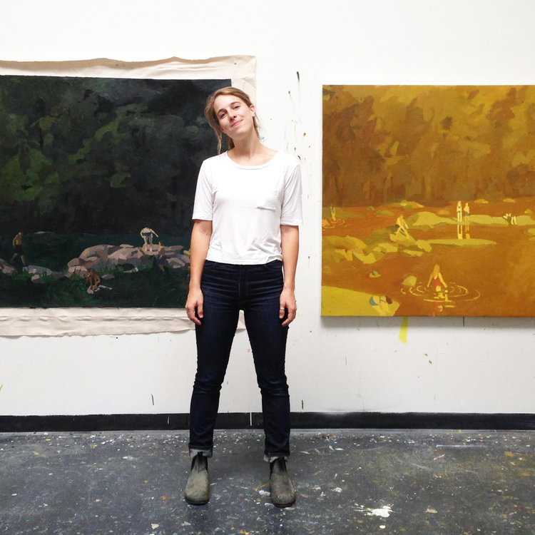 Sophie Treppendahl in her studio