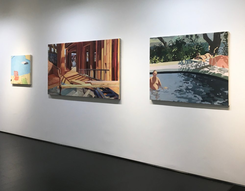 Installation view alongside work by Laini Nemett in Cool & Collected '18 exhibition