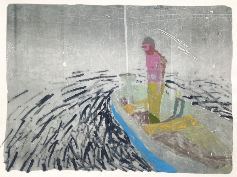Night Boat , 2016, monotype on paper, 22 x 30 inches (unframed), $800. (unframed)