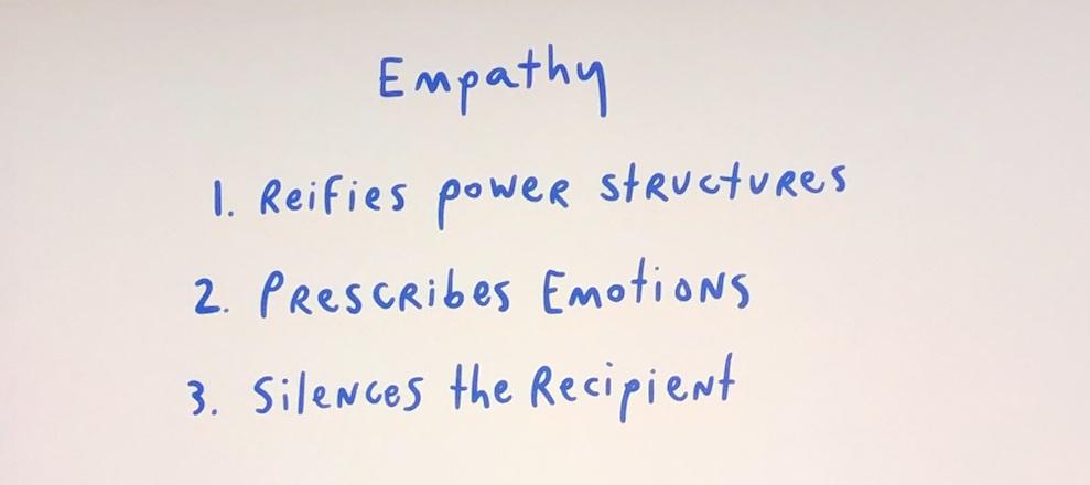 Liz Jackson critically deconstructing empathy