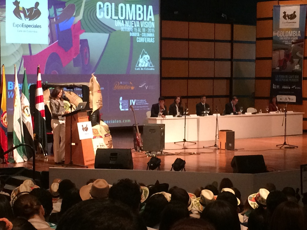 First appearance for Mery santos as president of the international women's coffee alliance.