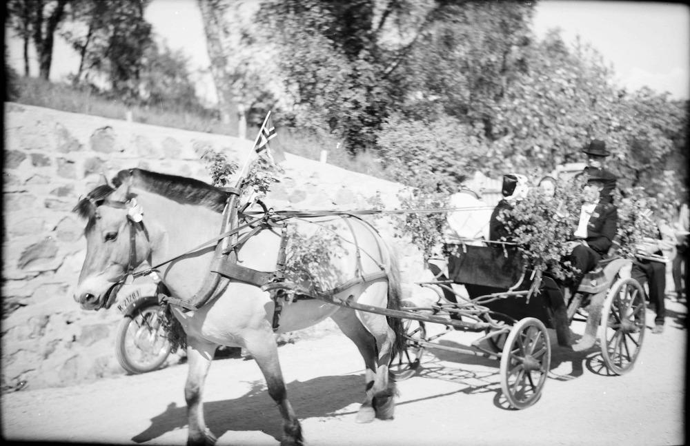 Peder Raad med hest og vogn