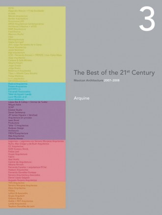 The Best of the 21st Century 2007-2008 vol. 3  / Arquine / pag.