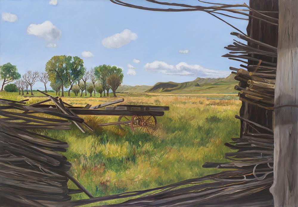 "View Through a Willow Barn -Alvord Desert 2015  38"" x 56"""
