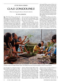 """Less than a decade ago, there were no Waldorf institutions in China; now there are two hundred Waldorf kindergartens and thirty elementary schools."""