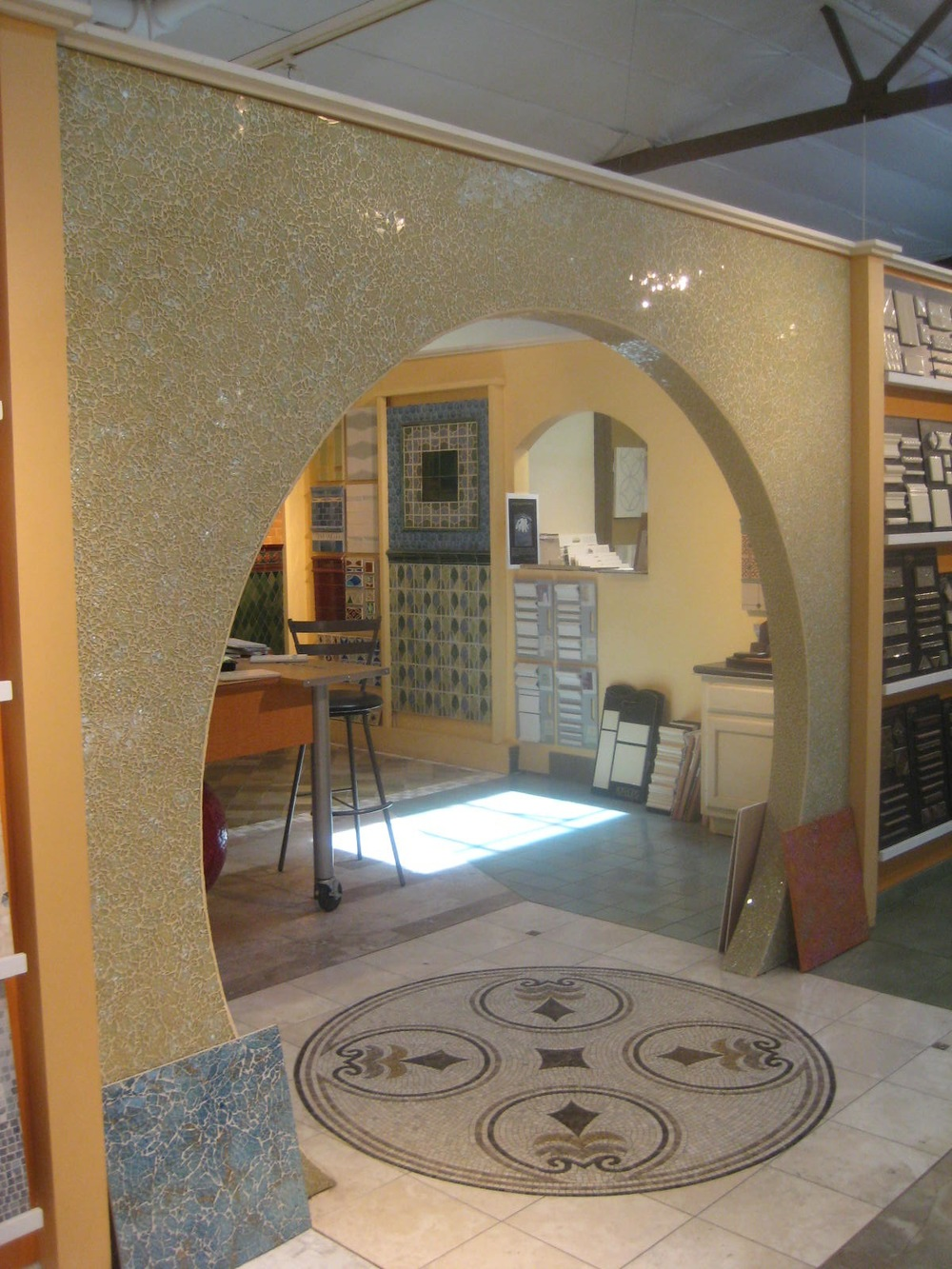 """Platinum Blonde"" Archway at Ceramic Tile Design in San Rafael in California"