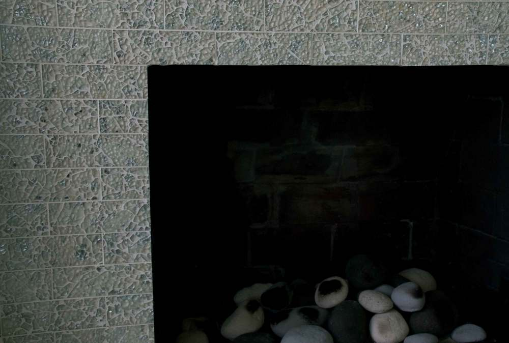 """Toga Party"" Brick Fireplace Detail"