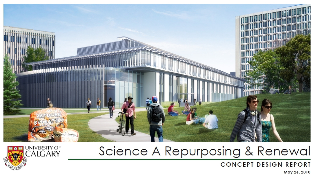 Science A - renovation & repurpose concept plan