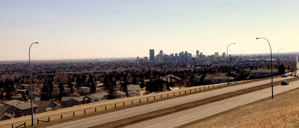Calgary, as seen from the top of 14th St in the NW