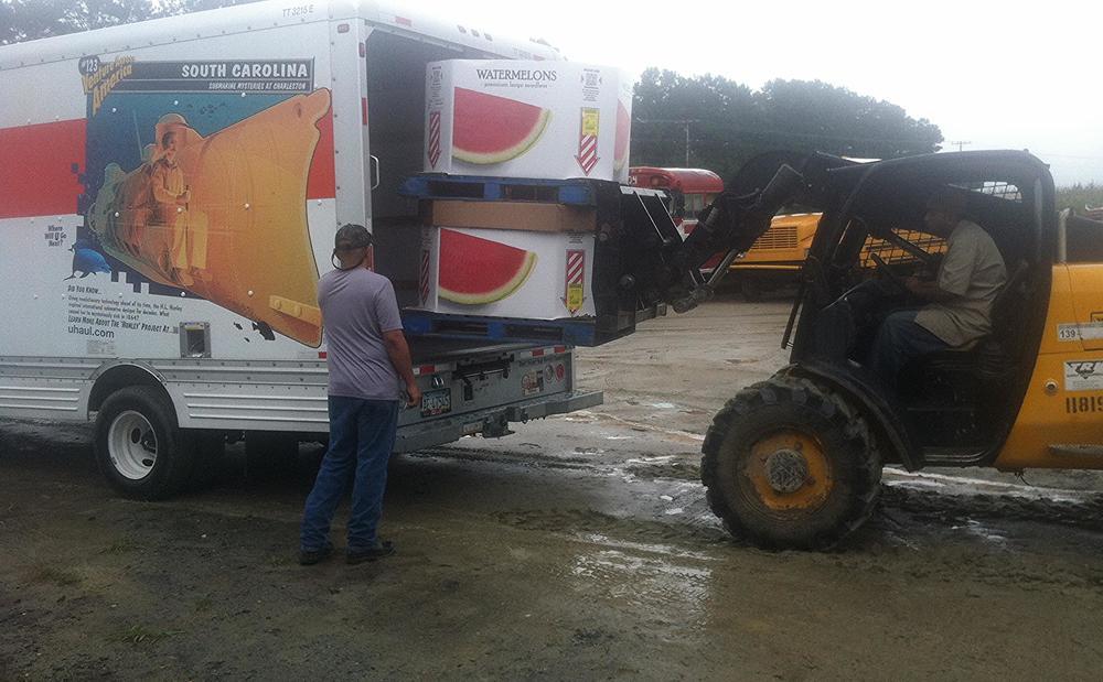 Watermelon loading in Delaware