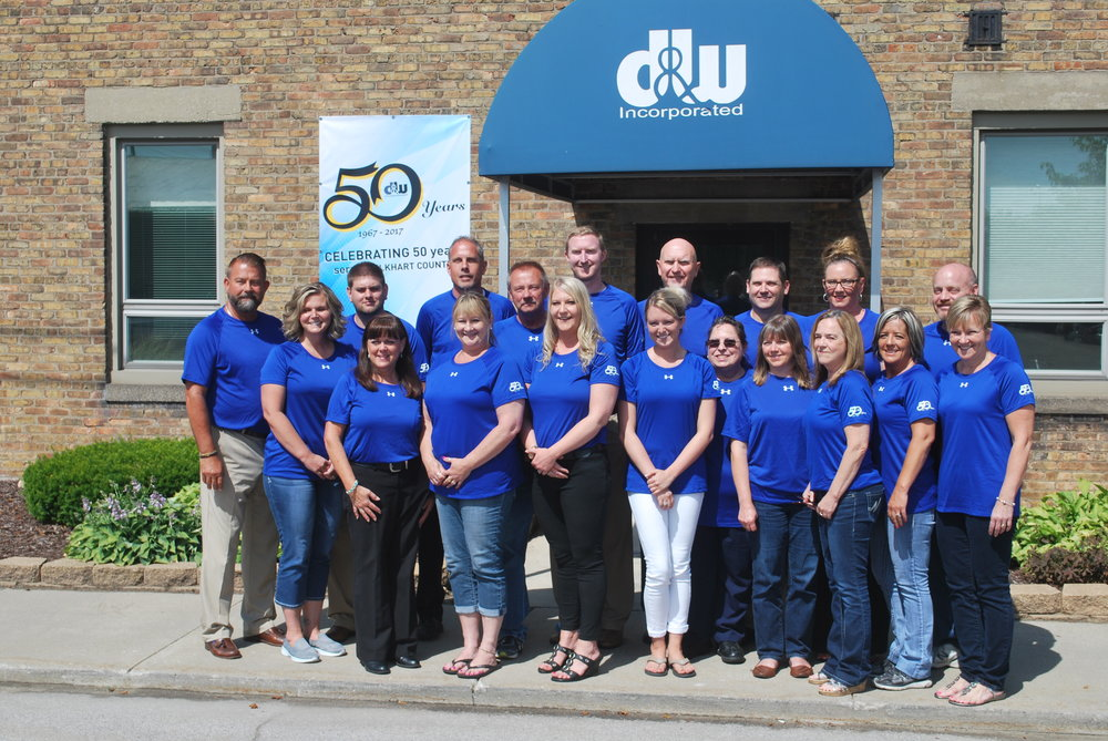 Thank you to all of our staff for your hard work and dedication that has allowed D&W to grow for 50 years! -