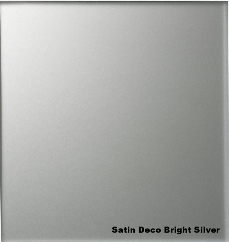 Satin Deco Mirror   Acid etched glass silvered on smooth side
