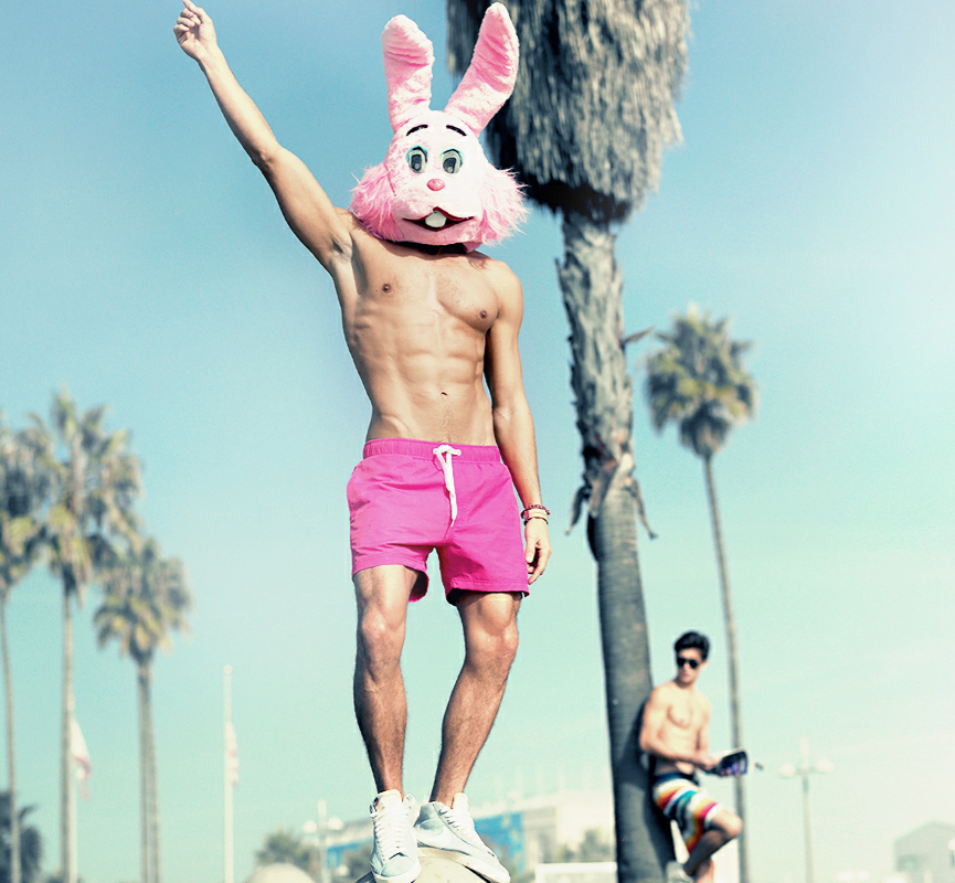 f yes pink bunny
