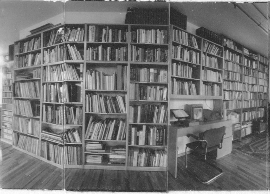 Allen Ginsberg's bookshelf