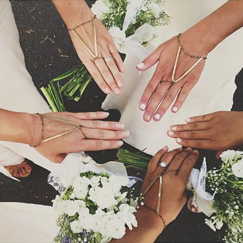 @chrystalsanderson bridesmaidswearing Dakota