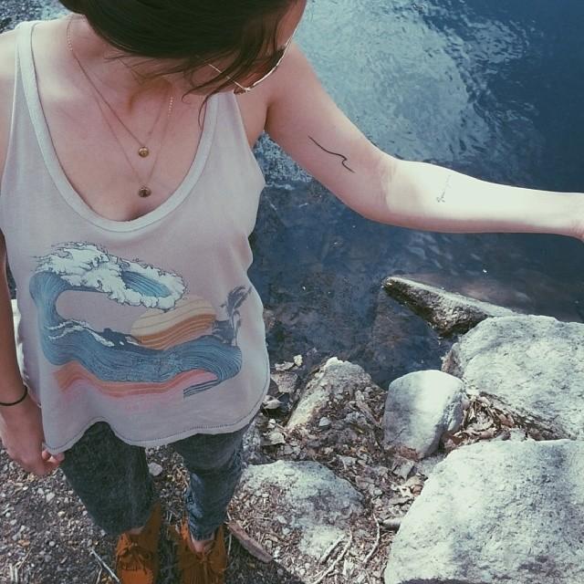 @lani_lye wearing Pineapple