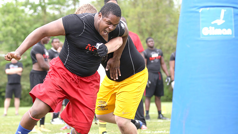 Darius Latham dominating at NFTC camp