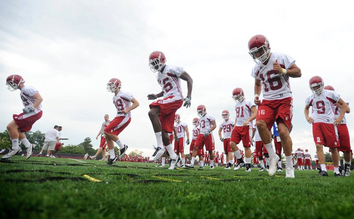 The Hoosiers preparing for the season in a previous edition of fall camp