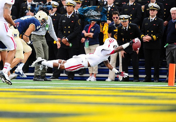 Shane Wynn will look to get into the end zone more often against the Midshipmen in 2013.