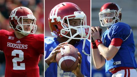 There are a trio of quarterbacks vying to be the man under center for Indiana in 2013