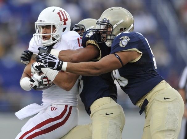 The Hoosiers offense had trouble breaking through against the Navy defense