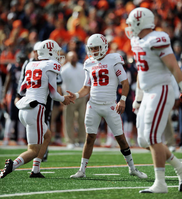 Kicker Mitch Ewald had a career day on Saturday against Michigan