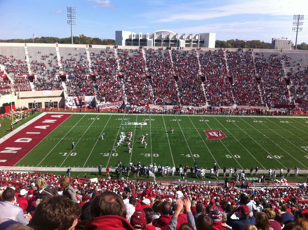 The Indiana Athletic Department needs to figure out a way to get students to make it into Memorial Stadium