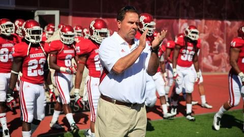 Indiana head coach Kevin Wilson is excited about many aspects of his team going into 2014 ( Image Source: Indystar.com)