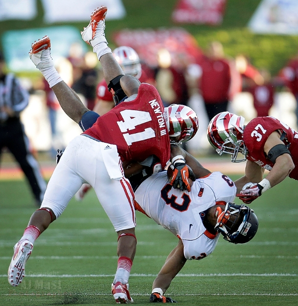 The Hoosiers upended the Illini in their bid for their first conference win since 2011. Photo Credit: AJMast.com