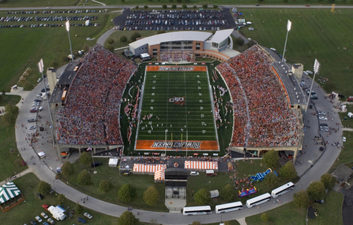 Doyt Perry Stadium will host its first Big Ten team since 2008